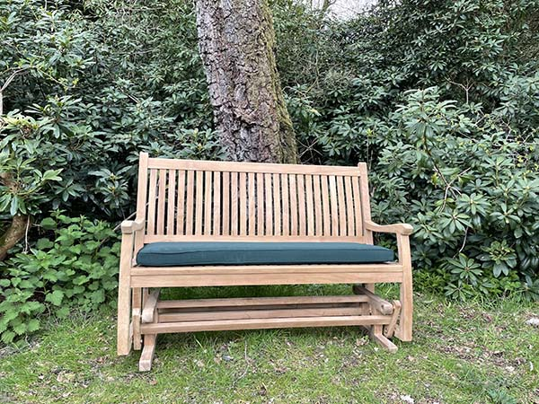 Rocking bench 600 x 450 and green cushion 2