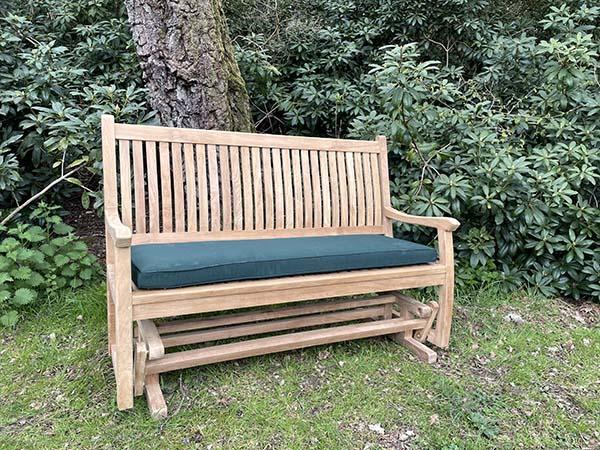Teak Garden Rocking Bench Hand, Outdoor Rocking Bench Seat
