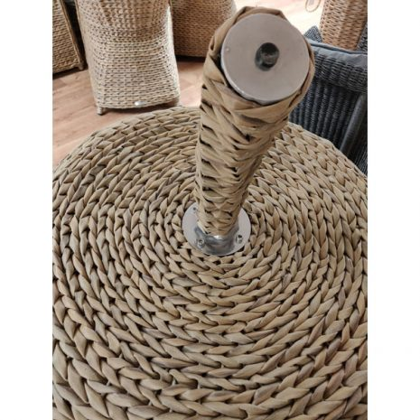 Bude Synthetic Water Hyacinth Rattan Apple Lounger Chair stalk