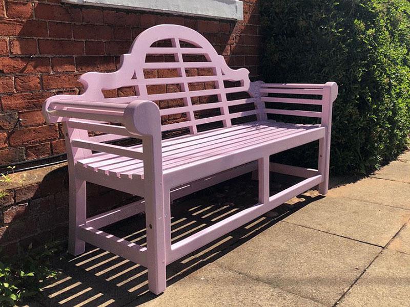 Lutyens Painted Garden Bench 150cm Pink