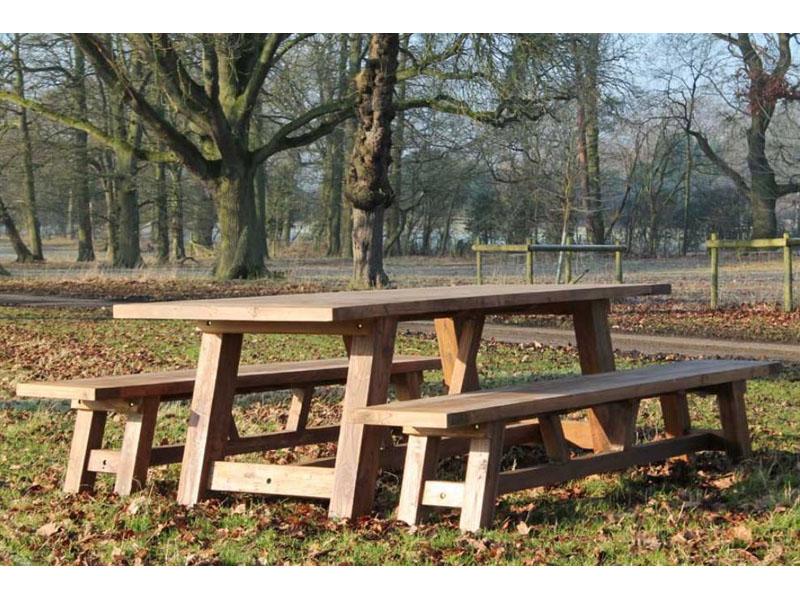 Nash 240cm Reclaimed Teak Dining Set - Rectangular Table Plus Two Backless  Benches