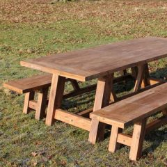 Reclaimed Teak Dining Set - Nash 200cm Table Plus Backless Benches. Nash Extra Large Reclaimed Teak Dining Set - 3m Rectangular Table Plus Two Backless Benches. Nash 240cm Reclaimed Teak Dining Set - Rectangular Table Plus Two Backless Benches