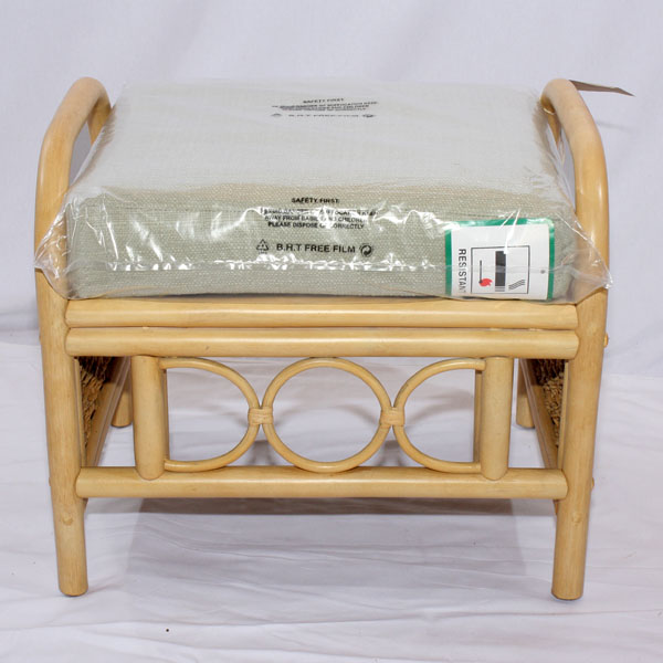 Rattan Conservatory Coffee Table: Cane Rattan Conservatory Coffee Table Footstool Set