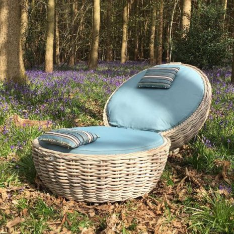 Poole Outdoor Rattan Apple Lounger Chair