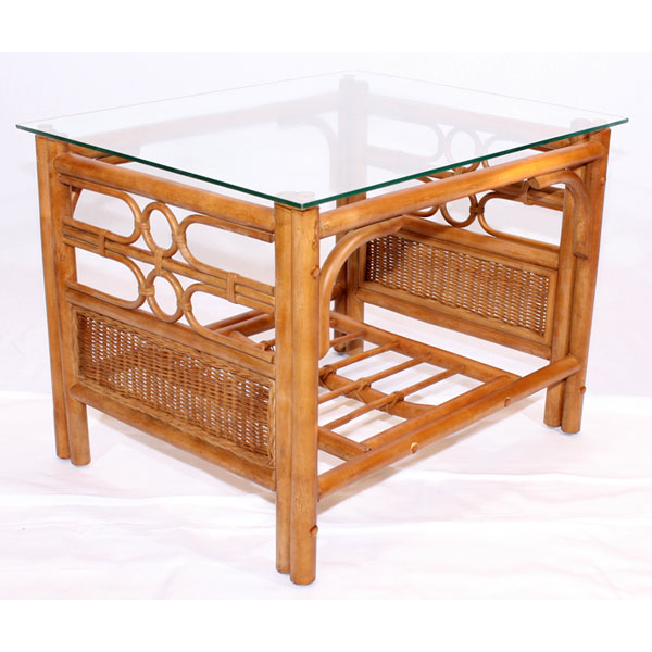 Rattan Conservatory Coffee Table: 3 Piece Brown Cane Rattan Conservatory Suite Plus Cushions
