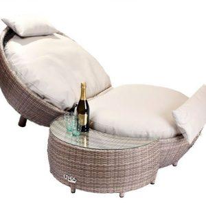 Sandbanks AquaMax Apple Lounger With Optional Side Table or Footstool