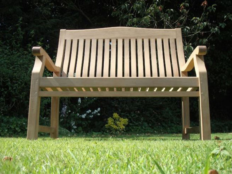 Betjeman 150cm Teak High Back Garden Bench Sustainable A