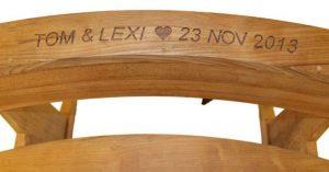 Byron 110cm Teak Couples Bench Seat