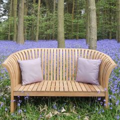 Chesterton Sustainable Teak Curved Back Bench