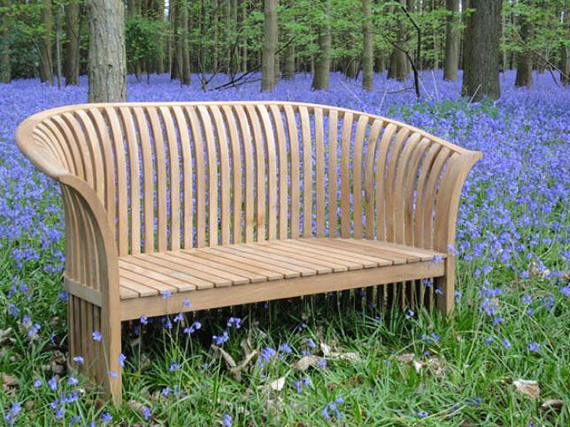 Chesterton Sustainable Teak Curved Back Bench Love Seat. 2 ...