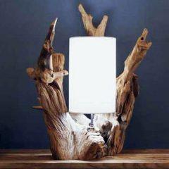 Cocora Reclaimed Teak Root Lamp. Lighting.
