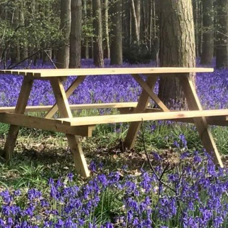 Howe 150cm Sustainable Pine A Frame Picnic Table With Benches