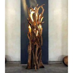 Black Friday Sale Floor Lamp. Negara Reclaimed Teak Root Floor Lamp. LIghting
