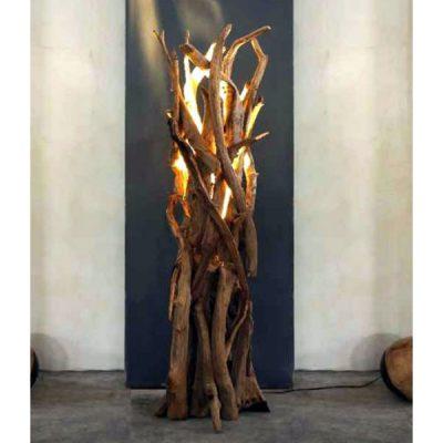 Black Friday Sale Floor Lamp. Negara Reclaimed Teak Root Floor Lamp. LIghting