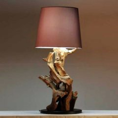 Negara Reclaimed Teak Root Table Lamp. Lighting