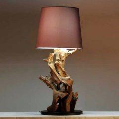 Negara Reclaimed Teak Root Table Lamp. Lighting