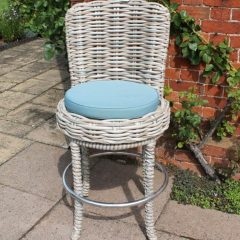 Poole Outdoor Garden Rattan Swivel Bar Chair