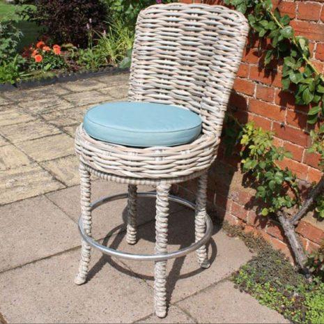 Poole Outdoor Garden Rattan Swivel Bar Chair