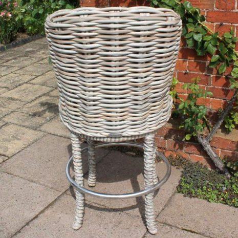 Poole Outdoor Garden Rattan Swivel Bar Chair Rear