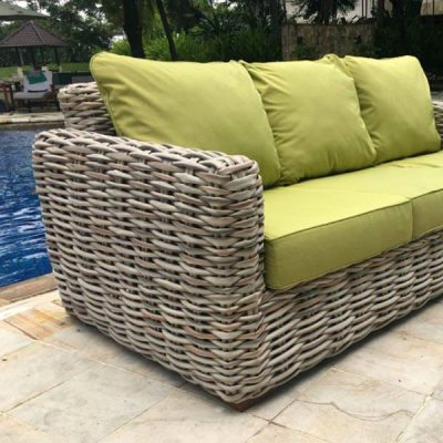 Poole Outdoor Rattan 3 Seater Garden Sofa 2