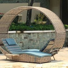 Poole Outdoor Rattan Garden Love Lounger