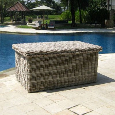 Poole Outdoor Rattan Garden Storage Box Cushion Store