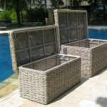 Poole Outdoor Rattan Garden Storage Box Cushion Store Medium Large