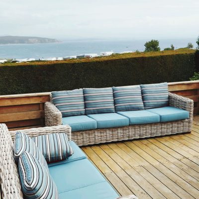Two Poole Outdoor Rattan 4 Seater Sofas. Poole Outdoor Rattan 4 Seater Sofa