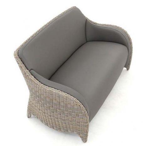 AquaMax Outdoor Rattan 2 Seater Garden Sofa - Dartmouth