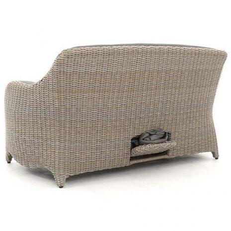 AquaMax Outdoor Rattan 2 Seater Garden Sofa - Dartmouth - Rear view
