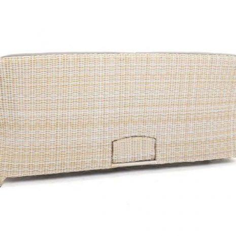 AquaMax Outdoor Rattan 3 Seater Garden Sofa - Dartmouth - Rear view