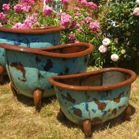 Bathtub Garden Planters & Party Ice Buckets Set of 3