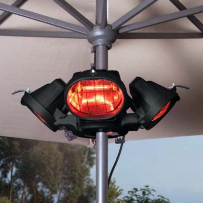 Heatmaster Popular Parasol Gazebo Patio Heater 4 x 500W Halogen 2Kw