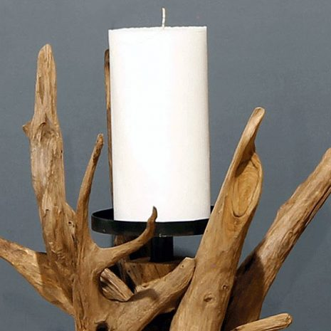 Reclaimed Teak Root Candle Holder