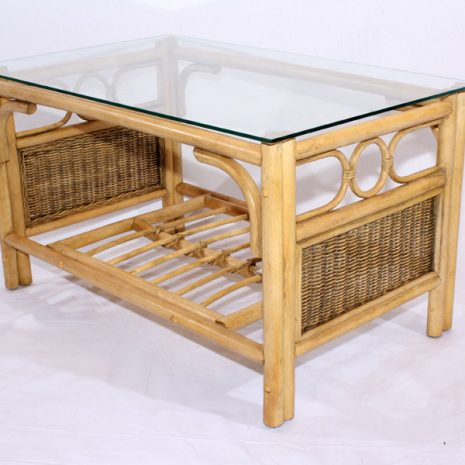 Emerald Natural Cane Rattan Conservatory Coffee Table