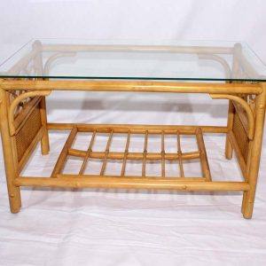 Cane Glass Top Coffee Table – Little Gem Natural Cane Colour Conservatory Table