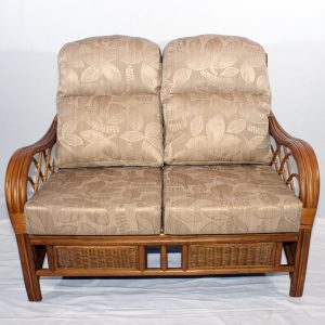 Osbourne Conservatory 2 Seater Sofa Brown Cane Rattan Front