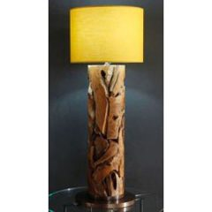 Tijuca Reclaimed Teak Root Medium Floor Lamp 120cm