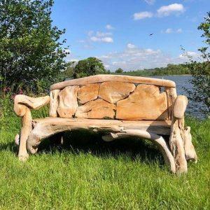 Kipling Reclaimed Teak Root Bench 180cm