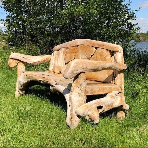 Outstanding Kipling Reclaimed Teak Root Garden Bench Squirreltailoven Fun Painted Chair Ideas Images Squirreltailovenorg