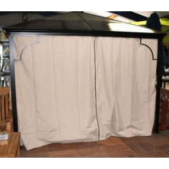 Replacement Beige Curtains - Karoo Solid Roof Gazebo Square 3m x 3m