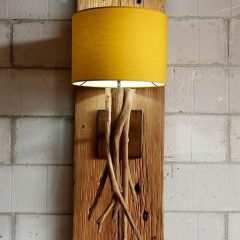 Sequoia Teak Root Wall Lamp plus Shade