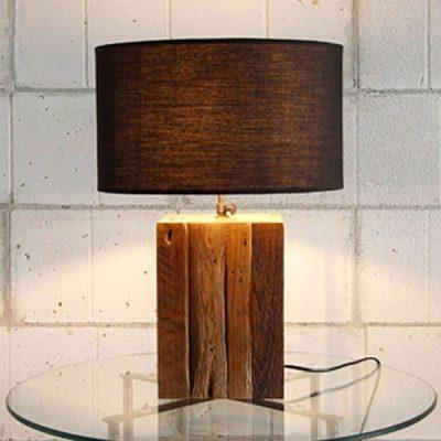Waipoua Reclaimed Teak Square Table Lamp
