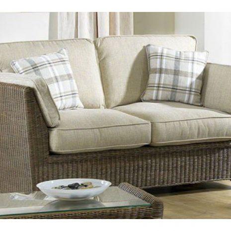Skipton 2 Seater Brown Rattan Sofa