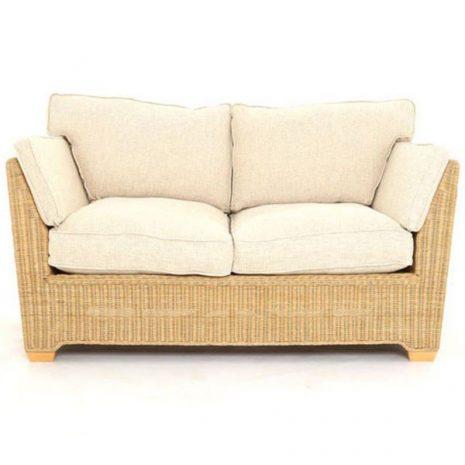 Skipton 2 Seater Natural Rattan Sofa Front view