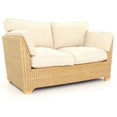Skipton 2 Seater Natural Rattan Sofa