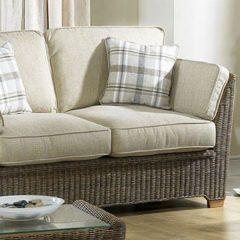 Skipton Brown 2 Seater Rattan Sofa