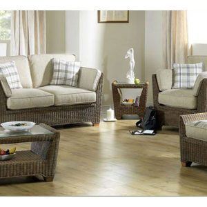 Skipton Brown Rattan 5 Piece Suite