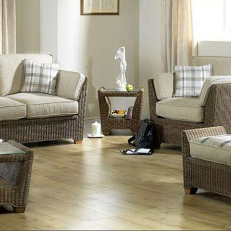 Skipton Brown Rattan 5 Piece Suite Conservatory Furniture