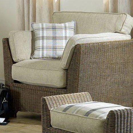 Skipton Brown Rattan Armchair
